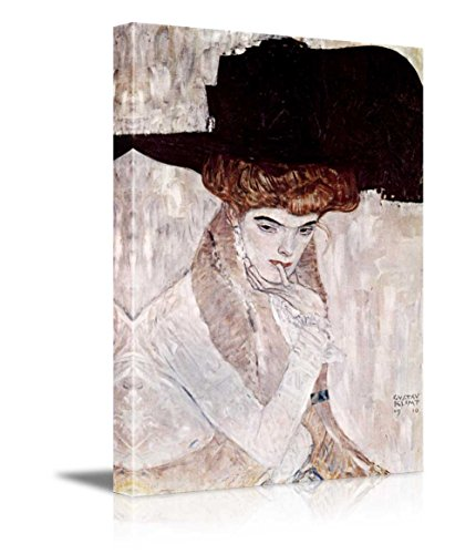 The Black Feather Hat by Gustav Klimt Austrian Symbolist Painter