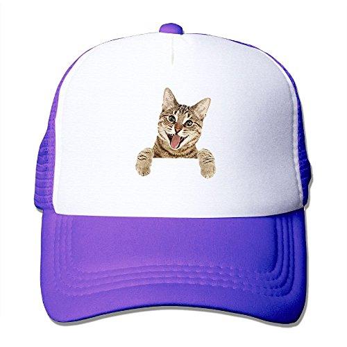 Mehatt Cat 112 Mesh Back Trucker Cap Snapback Hat - Purple Cat Flea Treatment
