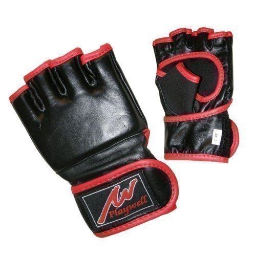 Playwell MMA Grappling-Handschuhe für Kinder, Leder