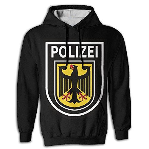 Men's Stylish Polizei German Seal Best Big Pockets Designer Cool Sweatshirts (Polizei-designer)