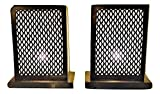 A Pair of Moroccan Rectangular Gold Brass Table Lamp