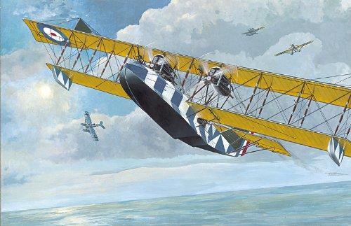 Roden Felixstowe F.2A British Flying Boat Airplane Model Kit - Flying Boat Kit