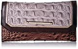 Brahmin Women's Soft Wallet Checkbook Cover, Quill, One Size