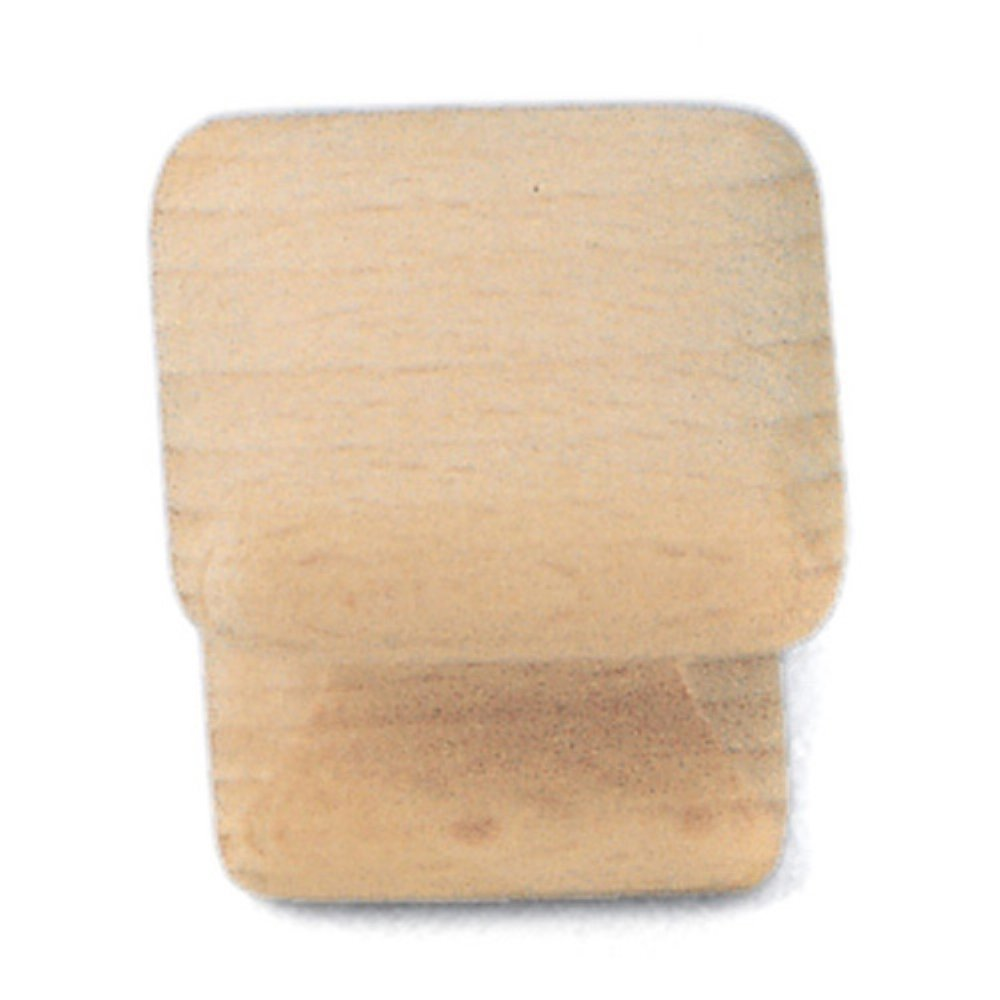 Laurey 32201 1 1/4-Inch Natural Wood Square Knob