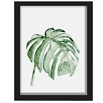 Outgeek Wall Art Painting Unframed Botanical Leaves Canvas Print Wall Art  Decor for Home