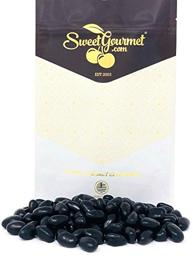 Licorice Jelly - Black Jelly Beans Eggs - Licorice Flavor jelly beans bulk candy 1 pound