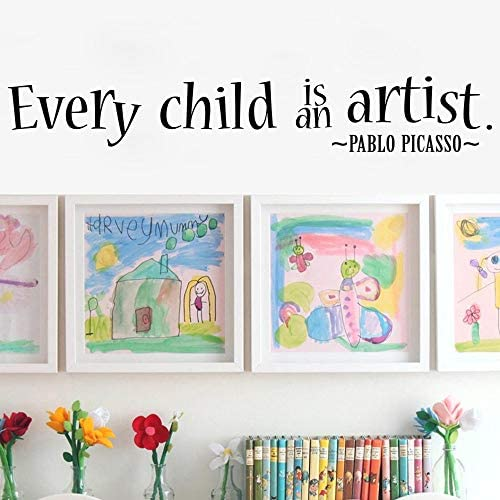 MoharWall Quotes Picasso Nursery Decoration