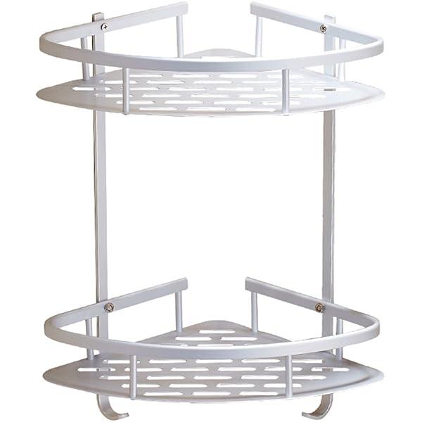 Aerobath ba/ño estante estanter/ía de esquina Estantes de Ducha de aluminio espacial perforado entramado de ba/ño muebles de ba/ño