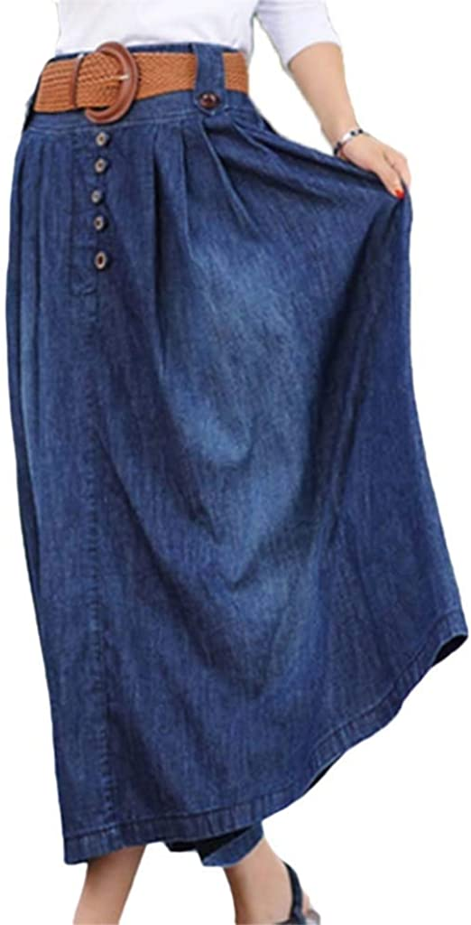 Mujer Faldas Falda Vaquera Elegantes Vintage Cintura Alta Falda ...