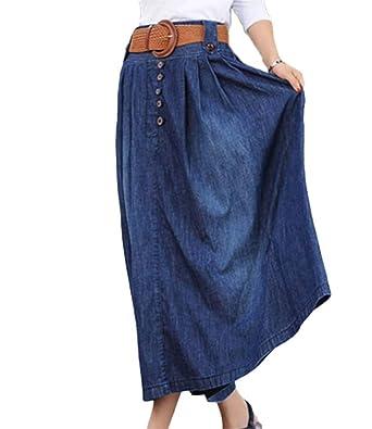 Adelina Falda Vaquera para Mujer Mujer para Vaqueros Pantalones ...
