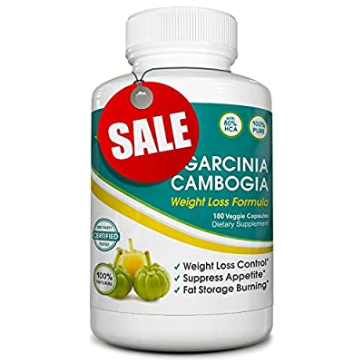 Pure Garcinia Cambogia Supplement, Potent Appetite Suppressant! 80% HCA Content - Fat Burning Weight Loss Aid - 100% Satisfaction Guarantee
