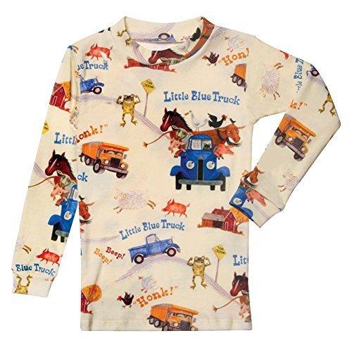 (Children's Little Blue Truck Print Pajama Top and Bottom Set -)