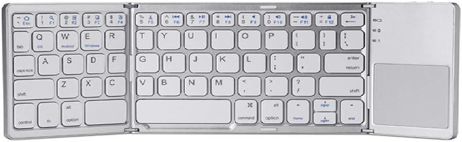 JAY-LONG Teclado Inalámbrico Bluetooth Plegable, Teclado ...