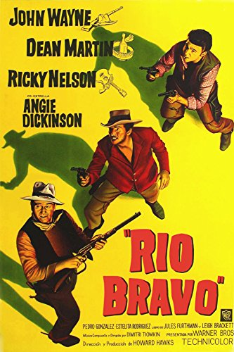 (Metal Tin Sign 8x10 From A Photo Or Poster John Wayne In Rio Bravo With A Miror Finish)