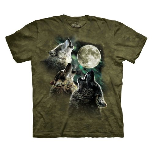 The Mountain Men's Three Wolf Moon T-Shirt, Military Green, XL (Shirts T Moon)