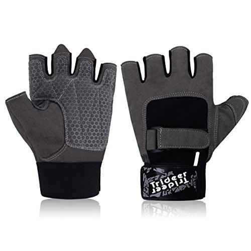 Trideer-Weight-Lifting-Gloves-GymWorkoutTrainingCrossfitSportsFitnessBodybuildingExercise-Gloves-Half-FingerFingerless-MicrofiberSilica-Gel-Grip-with-WristStrap-Support-for-MenWomen