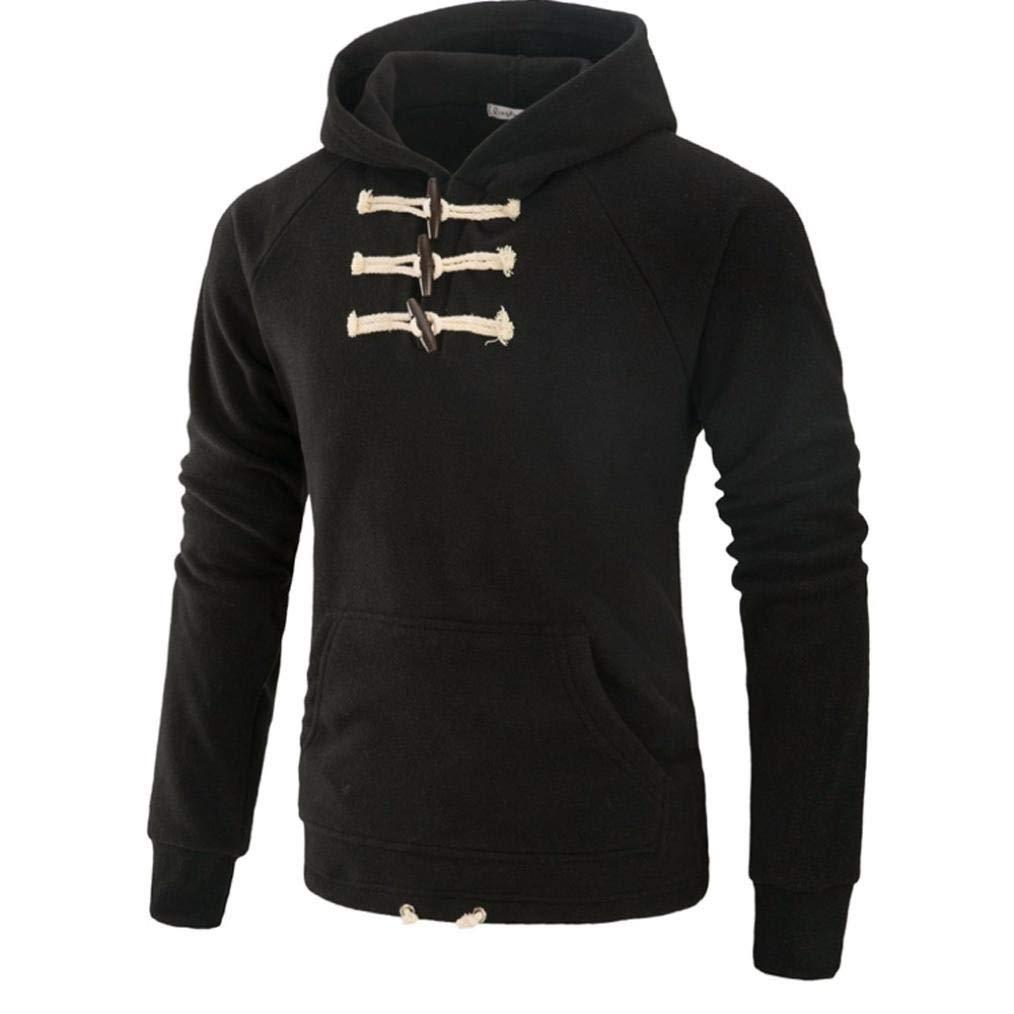 Sharemen Mens Slim Coat Outwear Pocket Winter Long Sleeve Hoodies