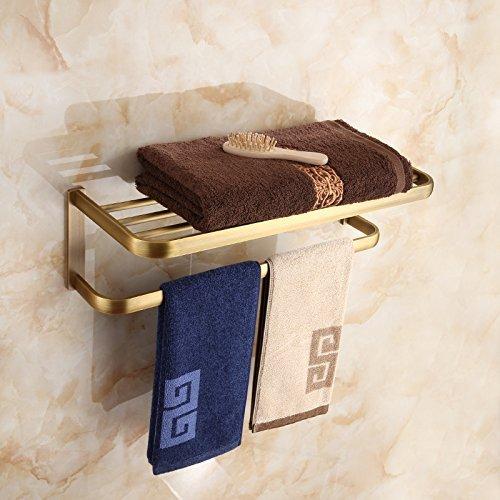 HOMEE European Style Copper Towel Rack Shelving Bathroom Towel Bar by HOMEE