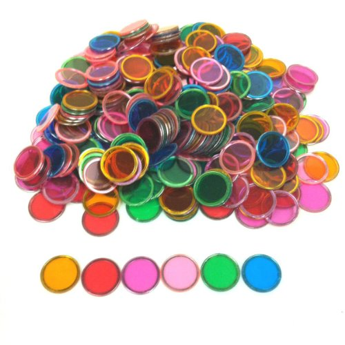 Tapp Collections™ Bingo Transparent Chips 300-pk - Assorted Colors (Amazon Magnets)