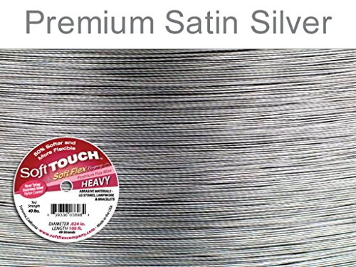 Soft Touch 49 strand Beading Wire .024 Inch 30 Ft Soft Flex -