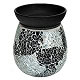 Tooltime Electric Silver Mirror Mosaic Wax Tart Melt Burner Lamp Scented Aroma Warmer