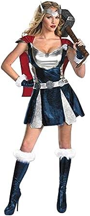 Disfraz Mujer Thor Vikinga Superheroe - 3 Piezas Vestido Cinturón ...