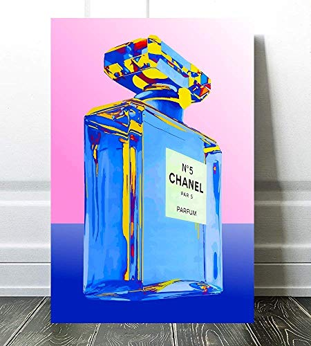 "Wall Pop Art Covering Perfume Print Poster Glam Fashion Decor, French, Vintage, Art Deco 614 Size: 12"" x 16"""