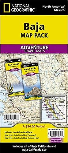 Baja [Map Pack Bundle] (National Geographic Adventure Map): National ...