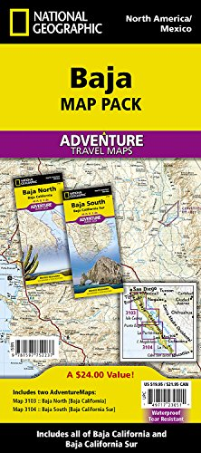 Baja [Map Pack Bundle] (National Geographic Adventure Map)