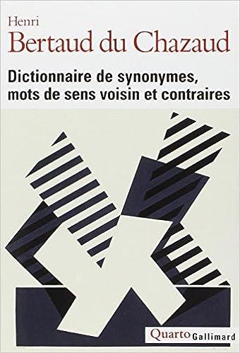 Amazon Fr Dictionnaire De Synonymes Mots De Sens Voisin Et