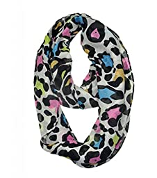 WishCart infinity scarf animal print Girl\'s Leopard Infinity Circle loop Scarf Soft Light Weight colorful
