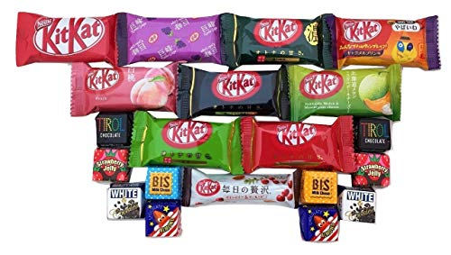(20 Japanese Kit Kat & Tirol Chocolate Gift bag Japanese candy)