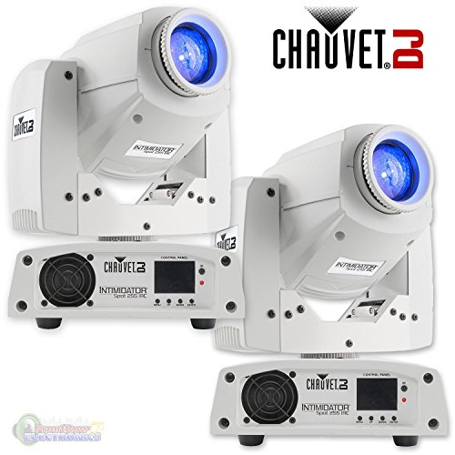 Chauvet DJ Intimidator Spot 255 IRC 60 W LED Moving Yoke Head DMX Light (2 Pack) by CHAUVET DJ