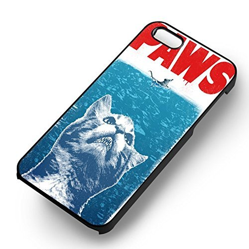 Unique Paws pour Coque Iphone 5 or Coque Iphone 5S or Coque Iphone 5SE Case (Noir Boîtier en plastique dur) Y6R6UT