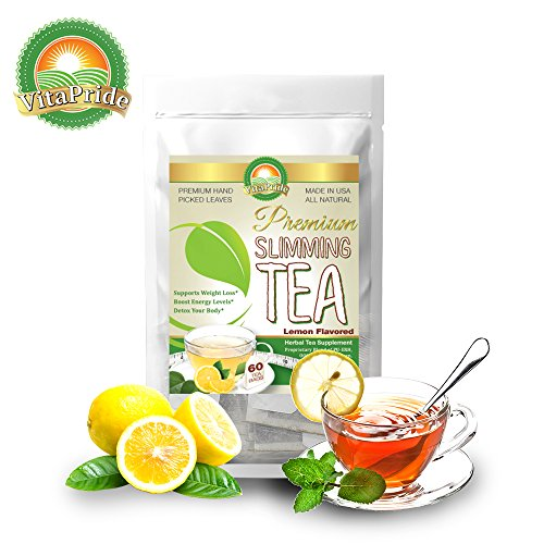 Lemon Herbal Slimming Tea And Detox Tea For Weight Loss With Natural Lemon Flavor 60 Bags (Best Tea To Lose Weight Fast)
