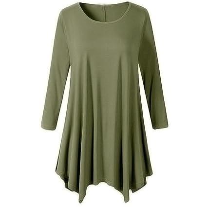 c0f5061918c4 Amazon.com  Longay Women s Long Sleeve Loose Swing Tunic Shirt Dress ...