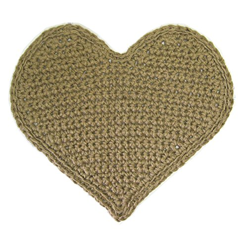 Jute Rug - Heart Shaped - Natural Fiber - Handmade Crochet - 26