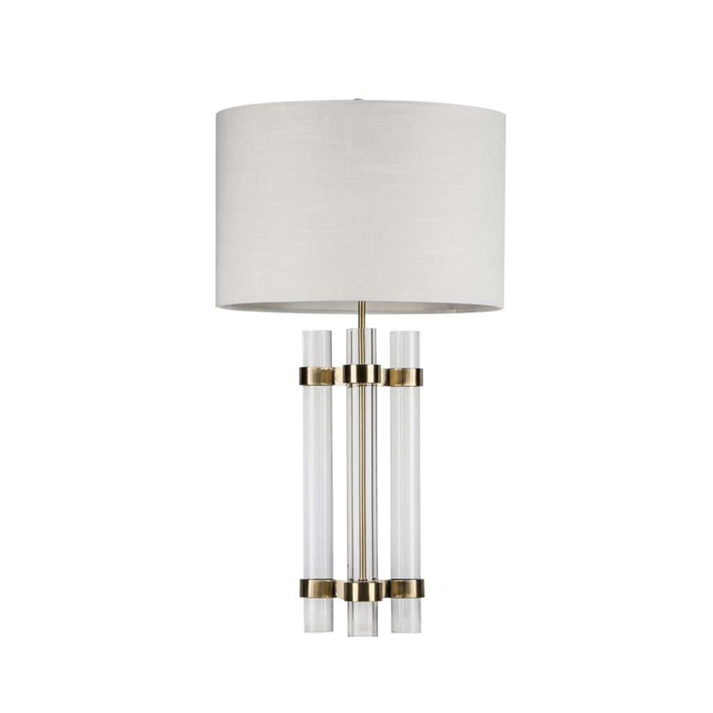 YMXLJF Elegante lámpara de Mesa Plateada de Cristal para el ...