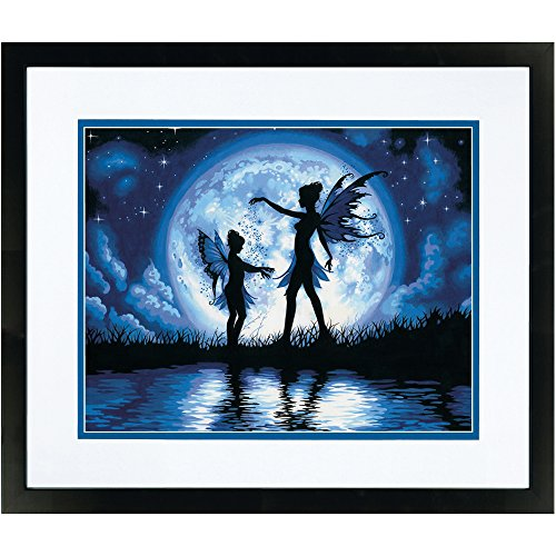 - Dimensions 73-91671 Twilight Fairy Silhouette Paint by Numbers for Adults, 14'' W x 11'' L