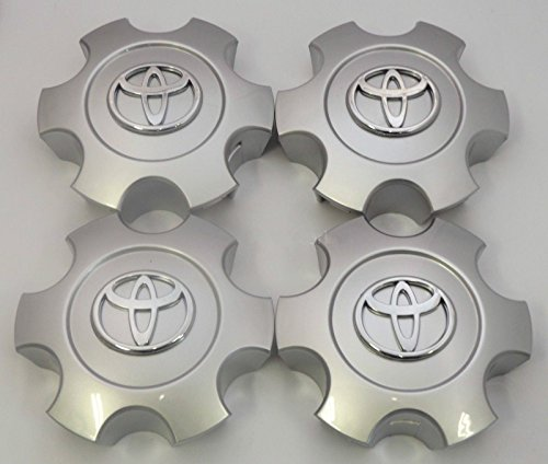 Center Cap Part (Exotic Store Set of 4 New REPLACEMENT 2003 2004 2005 2006 2007 Toyota Tundra Sequoia Silver Wheel Center Hub Caps 56069440 US Fast Shipment)