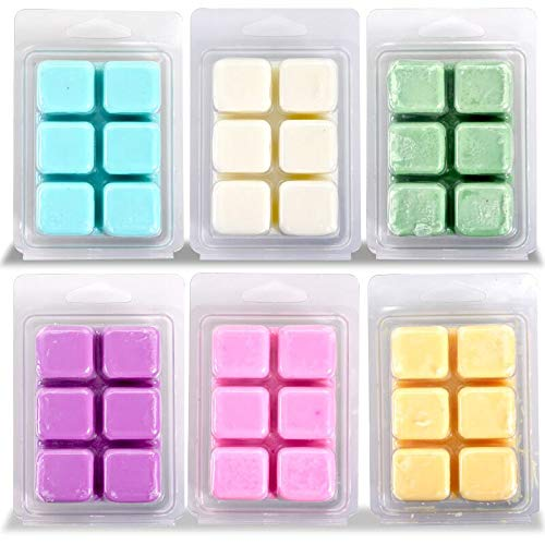 Calm Life Scented Soy Wax Cubes/Melts, Set of 6, 3 oz Each. Hand Poured Wax Infused with Essential Oils. ()