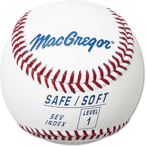 MacGregor Safe/Soft Baseballs, Kids, Level 1 (One Dozen) MCB5SV01