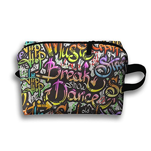Street Crazy Dance Full Print Stylish Large Travel Cosmetic Pouch Bag Storage - Street Oxford Stores