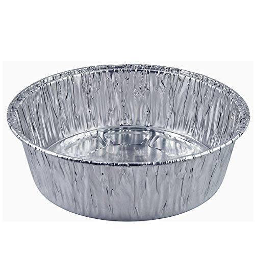 10-Pack of 9-Inch Round Foil Pans Extra Deep - Disposable Aluminum Foil Cake Trays - Freezer & Oven Safe - for Baking, Cooking, Storage & Reheating