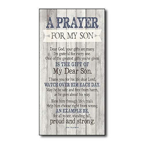 Adonis554Dan Winston Porter 'Prayer for My Son ' Textual Rustic Wood Wall Art Home Family Decoration Design Wooden Sign Plaque Sign 5inches X10inches from Adonis554Dan