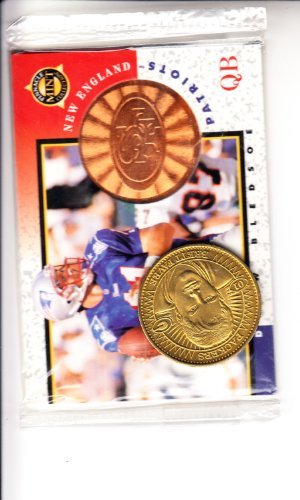 1997 Pinnacle Mint Football Promo Packet never opened Steve Young card/ Drew Bledsoe card and coin Football - Mint Pinnacle