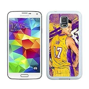 New Custom Design Cover Case For Samsung Galaxy S5 I9600 G900a G900v G900p G900t G900w LA Lakers Jeremy Lin 1 White Phone Case