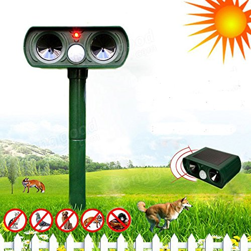 Robasiom Loskii GN-01 Ultrasonic Solar Power Animal Repeller Infrared Sensor Cat Dog Snake Rat Repeller Gard