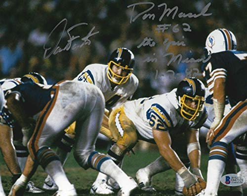 Dan Fouts & Don Macek Autographed Signed Chargers Football 8x10 Photo Signature - Beckett Authentic Epic In Miami
