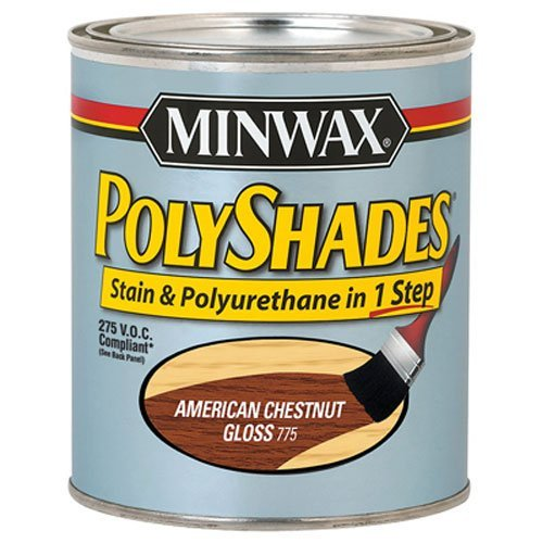Minwax 21775 1/2 Pint Polyshades Gloss Wood Stain, American Chestnut by Minwax